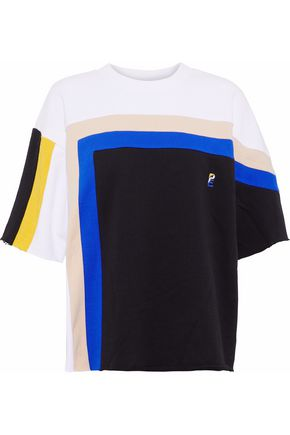 P.E NATION Color-block French cotton-terry T-shirt