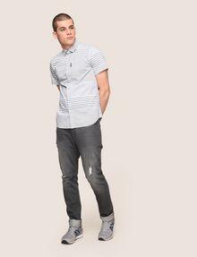 ARMANI EXCHANGE SHORT-SLEEVE VARIEGATED STRIPE REGULAR-FIT SHIRT Striped Shirt Man d