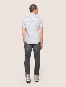 ARMANI EXCHANGE SHORT-SLEEVE VARIEGATED STRIPE REGULAR-FIT SHIRT Striped Shirt Man e