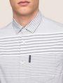 ARMANI EXCHANGE SHORT-SLEEVE VARIEGATED STRIPE REGULAR-FIT SHIRT Striped Shirt Man b