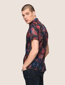 ARMANI EXCHANGE FADED TROPICAL FLORAL SHIRT Short-Sleeved Shirt Man a