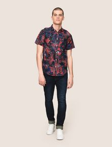 ARMANI EXCHANGE FADED TROPICAL FLORAL SHIRT Short-Sleeved Shirt Man d