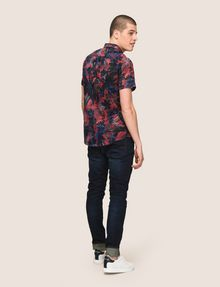 ARMANI EXCHANGE FADED TROPICAL FLORAL SHIRT Short-Sleeved Shirt Man e