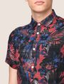 ARMANI EXCHANGE FADED TROPICAL FLORAL SHIRT Short-Sleeved Shirt Man b