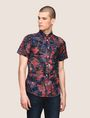 ARMANI EXCHANGE FADED TROPICAL FLORAL SHIRT Short-Sleeved Shirt Man f