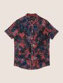 ARMANI EXCHANGE FADED TROPICAL FLORAL SHIRT Short-Sleeved Shirt Man r