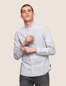 ARMANI EXCHANGE VARIEGATED STRIPE REGULAR-FIT SHIRT Long-Sleeved Shirt Man a