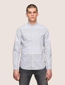 ARMANI EXCHANGE VARIEGATED STRIPE REGULAR-FIT SHIRT Long-Sleeved Shirt Man f