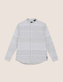 ARMANI EXCHANGE VARIEGATED STRIPE REGULAR-FIT SHIRT Long-Sleeved Shirt Man r