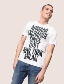 ARMANI EXCHANGE SHIFTED 1991 LOGO CREW Logo T-shirt Man a