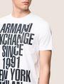 ARMANI EXCHANGE SHIFTED 1991 LOGO CREW Logo T-shirt Man b