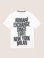ARMANI EXCHANGE SHIFTED 1991 LOGO CREW Logo T-shirt Man r