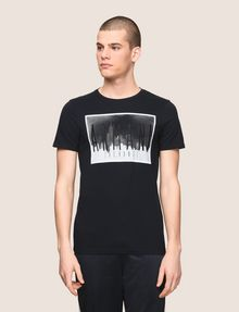 ARMANI EXCHANGE BLURRED SKYLINE LOGO TEE Logo T-shirt Man f