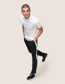 ARMANI EXCHANGE CLASSIC SERIF OUTLINE TEE Logo T-shirt Man a