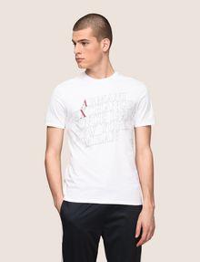 ARMANI EXCHANGE CLASSIC SERIF OUTLINE TEE Logo T-shirt Man f