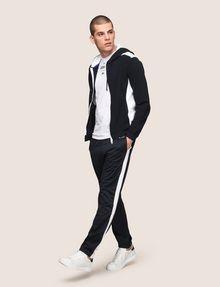 ARMANI EXCHANGE MIXED MEDIA ZIP-UP HOODIE Fleece Jacket Man d
