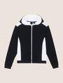 ARMANI EXCHANGE MIXED MEDIA ZIP-UP HOODIE Fleece Jacket Man r