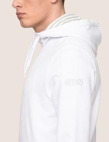 ARMANI EXCHANGE STRIPE-LINED ZIP-UP HOODIE Fleece Jacket Man b