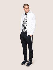 ARMANI EXCHANGE STRIPE-LINED ZIP-UP HOODIE Fleece Jacket Man d