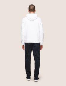 ARMANI EXCHANGE STRIPE-LINED ZIP-UP HOODIE Fleece Jacket Man e