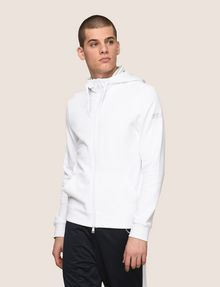 ARMANI EXCHANGE STRIPE-LINED ZIP-UP HOODIE Fleece Jacket Man f