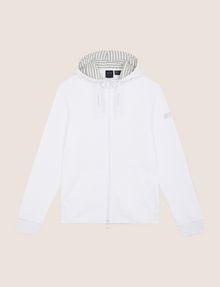 ARMANI EXCHANGE STRIPE-LINED ZIP-UP HOODIE Fleece Jacket Man r