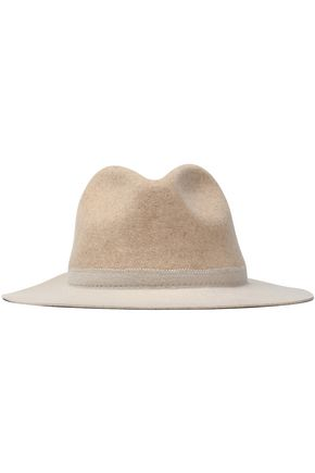 SENSI STUDIO Two-tone wool-felt fedora
