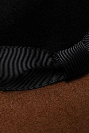 SENSI STUDIO Grosgrain-trimmed two-tone wool-felt fedora