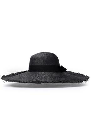 SENSI STUDIO Bow-embellished toquilla straw sun hat