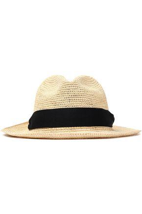 SENSI STUDIO Grograin-trimmed toquilla straw hat