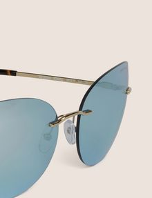 ARMANI EXCHANGE BLUE MIRROR FRAMELESS CAT-EYE Sunglass Woman e