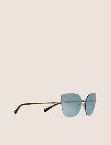 ARMANI EXCHANGE BLUE MIRROR FRAMELESS CAT-EYE Sunglass Woman f