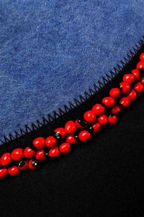 SENSI STUDIO Bead-embellished two-tone wool-felt fedora