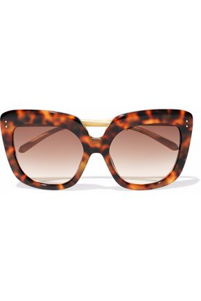 WOMAN SQUARE-FRAME TORTOISESHELL ACETATE SUNGLASSES BROWN