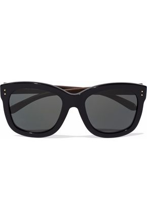 LINDA FARROW Square-frame acetate sunglasses