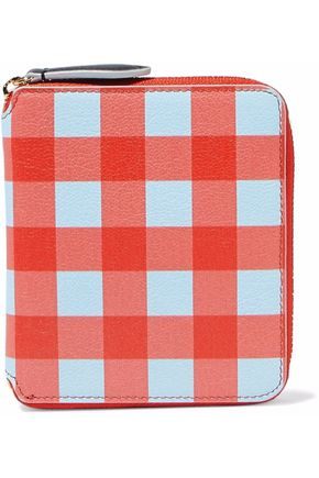 DIANE VON FURSTENBERG Gingham leather wallet