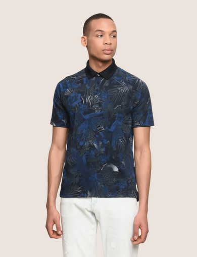 ARMANI EXCHANGE TROPICAL FLORAL POLO Man front