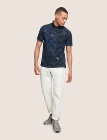 ARMANI EXCHANGE TROPICAL FLORAL POLO SHORT SLEEVES POLO [*** pickupInStoreShippingNotGuaranteed_info ***] d