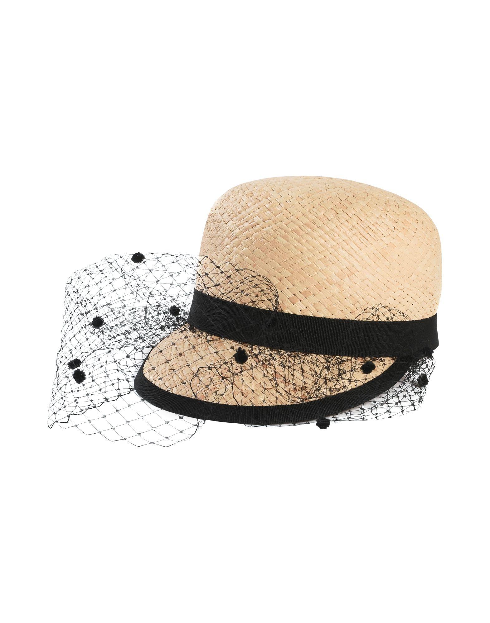 《送料無料》HELENE BERMAN London レディース 帽子 ベージュ 54 ラフィア 100% RAFFIA BASEBALL WITH VEIL