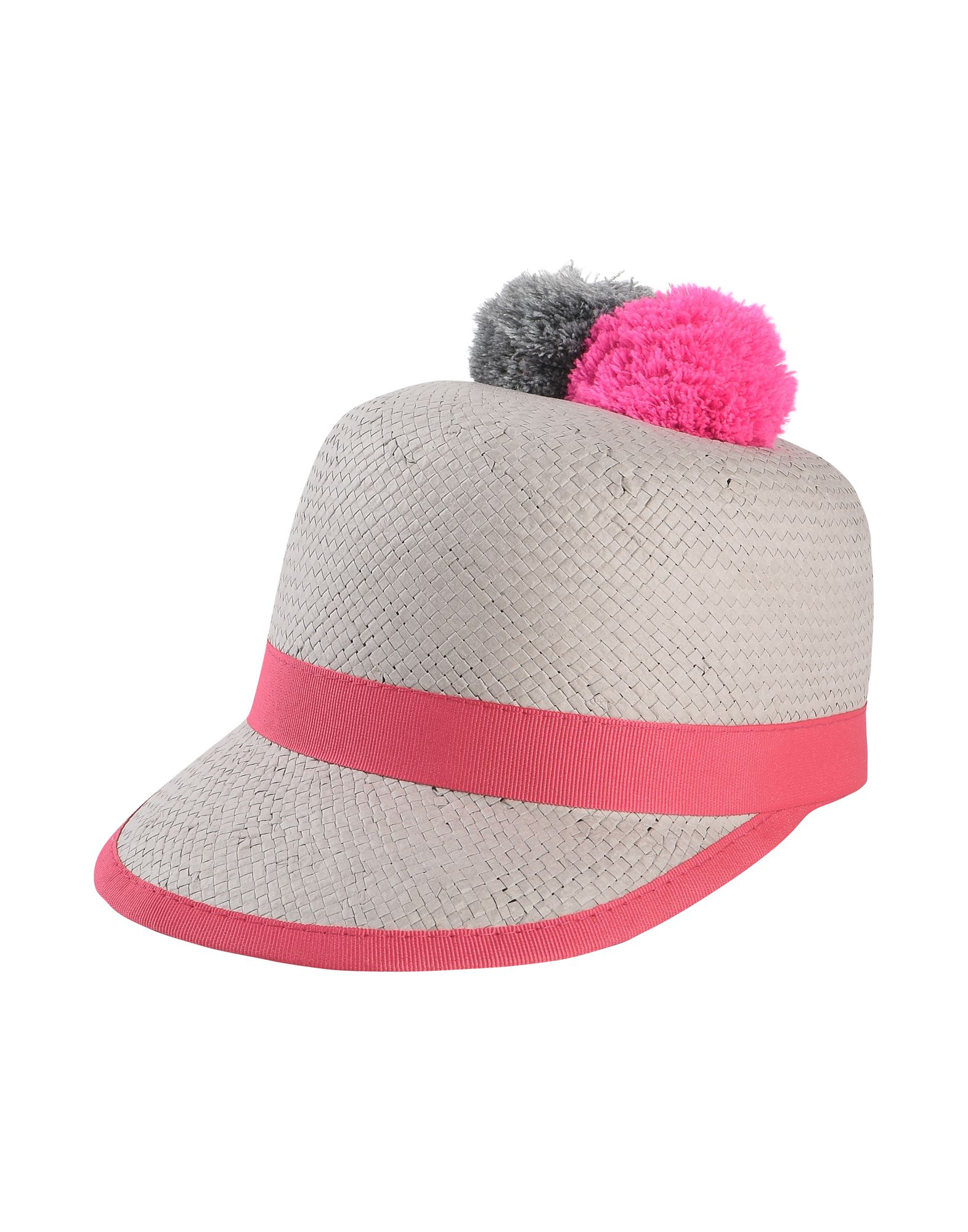 《セール開催中》HELENE BERMAN London レディース 帽子 ライトグレー 57 指定外繊維(紙) 100% BASEBALL CAP WITH 2 POMS