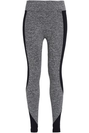 KORAL Paneled coated stretch leggings
