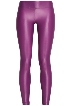 KORAL Cropped coated stretch leggings