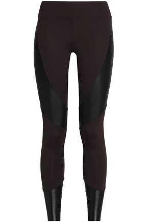 KORAL Forge paneled coated stretch-jersey leggings