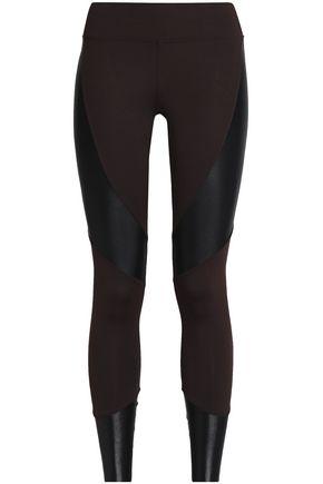 KORAL Coated-paneled stretch leggings