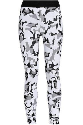 KORAL Printed stretch-jersey leggings