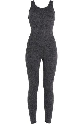 KORAL Cutout mélange stretch-jersey jumpsuit