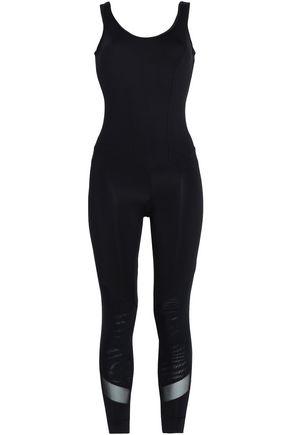 KORAL Open-back mesh-trimmed stretch bodysuit