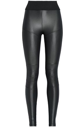 KORAL Coated-paneled stretch leggings