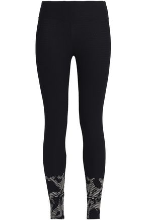 KORAL Stretch-jacquard leggings