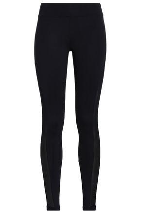 KORAL Mesh-trimmed stretch leggings